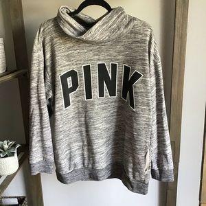 Victoria Secret PINK Gray Cowl Neck Sweatshirt
